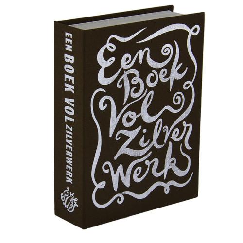 spaarboekje Een boek vol zilverwerk donkerbruin