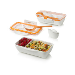 lunch box bento box oranje