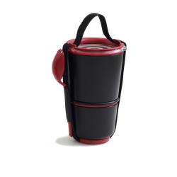 black+blum Lunchpot zwart/rood
