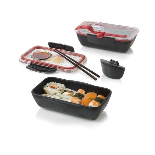 black+blum Bento lunchbox zwart/rood