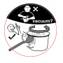 vacum sticker lunch pot