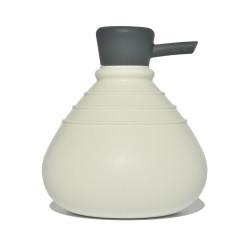 Soap Belly zeepdispenser wit met antraciet dop