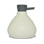 Soap Belly zeepdispenser wit met antraciet dop