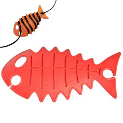 snoeren wegwerken met cable fish rood