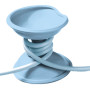 cable turtle babyblauw open