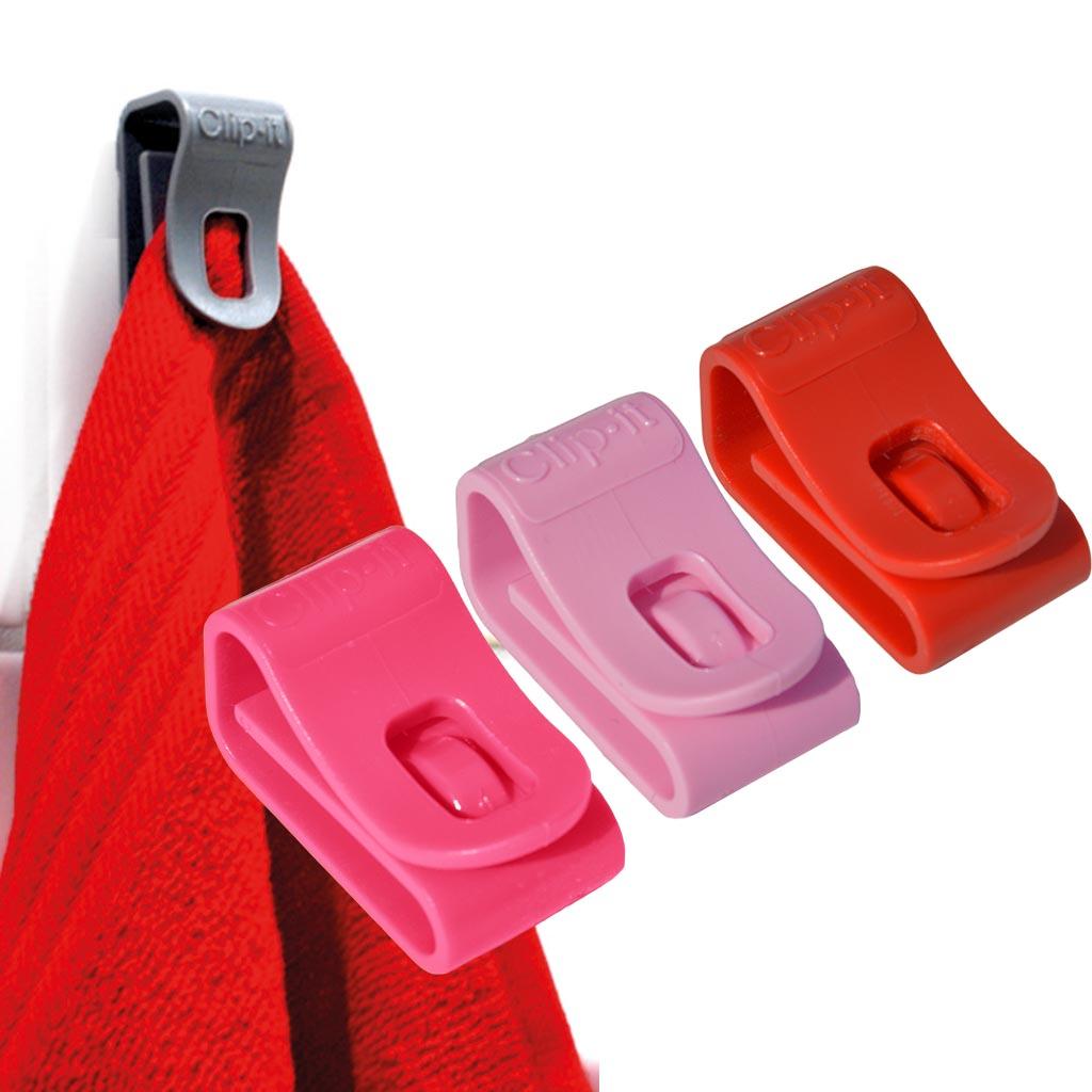 Handdoek clip clip it multifunctionele clip handig cadeau - Roze keuken fuchsia ...