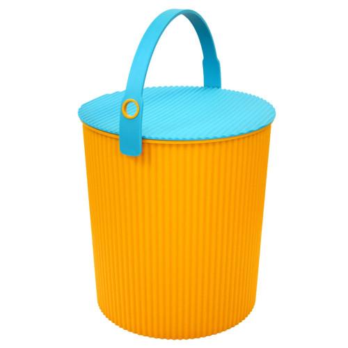 design emmer oranje / blauw groot