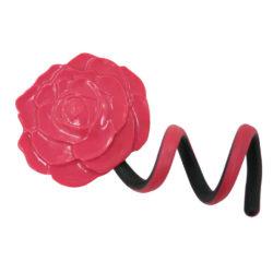 spiegeltje bloem flexibele voet roze/ zwart