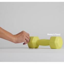 spaarpot Money is power lime