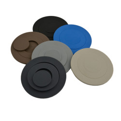 glasonderzetters 6 stuks Mix-It blauw, beige, taupe, l.grijs, antraciet, zwart