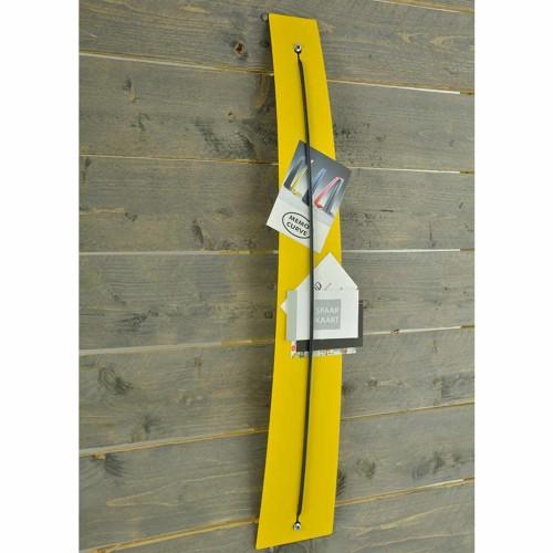 memohouder geel voor aan de muur Memo Curve
