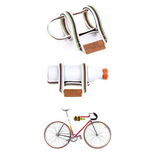 fleshouder fiets wit/gestreept 24Bottles