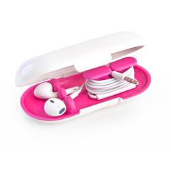 Dotz earbud case roze