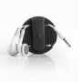 earbud wrap zwart oordopjes achterkant