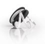 earbud wrap zwart oordopjes zijkant