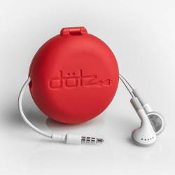 mini cord case rood oordopjes dicht staand