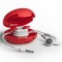 mini cord case rood oordopjes open