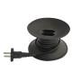 snoer verlengen met Cable disk zwart open