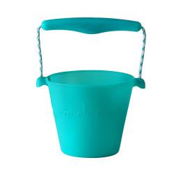 pvouwbare emmer Scrunch bucket aqua blauw