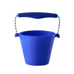 e opvouwbare emmer Scrunch bucket blauw