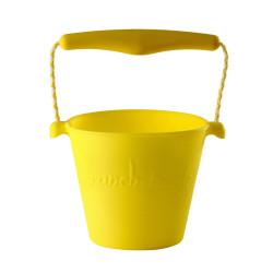 opvouwbare emmer Scrunch bucket geel