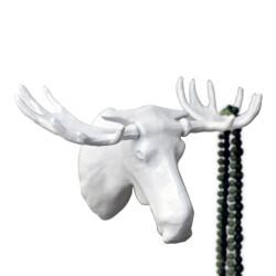 Moose kapstok wit met ketting