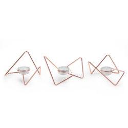 Waxinelichthouders Tri-Angular Loop koper
