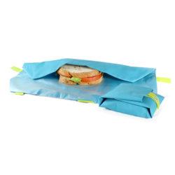 boterhamzakje stof Boc 'n roll blauw/ lime
