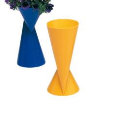 2-zijdige kunststof vaas Vase2 geel