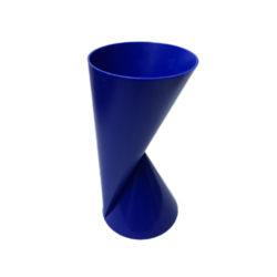 2-zijdige kunststof vaas Vase2 blauw