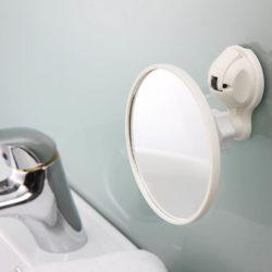spiegel crème wit met sterke zuignap