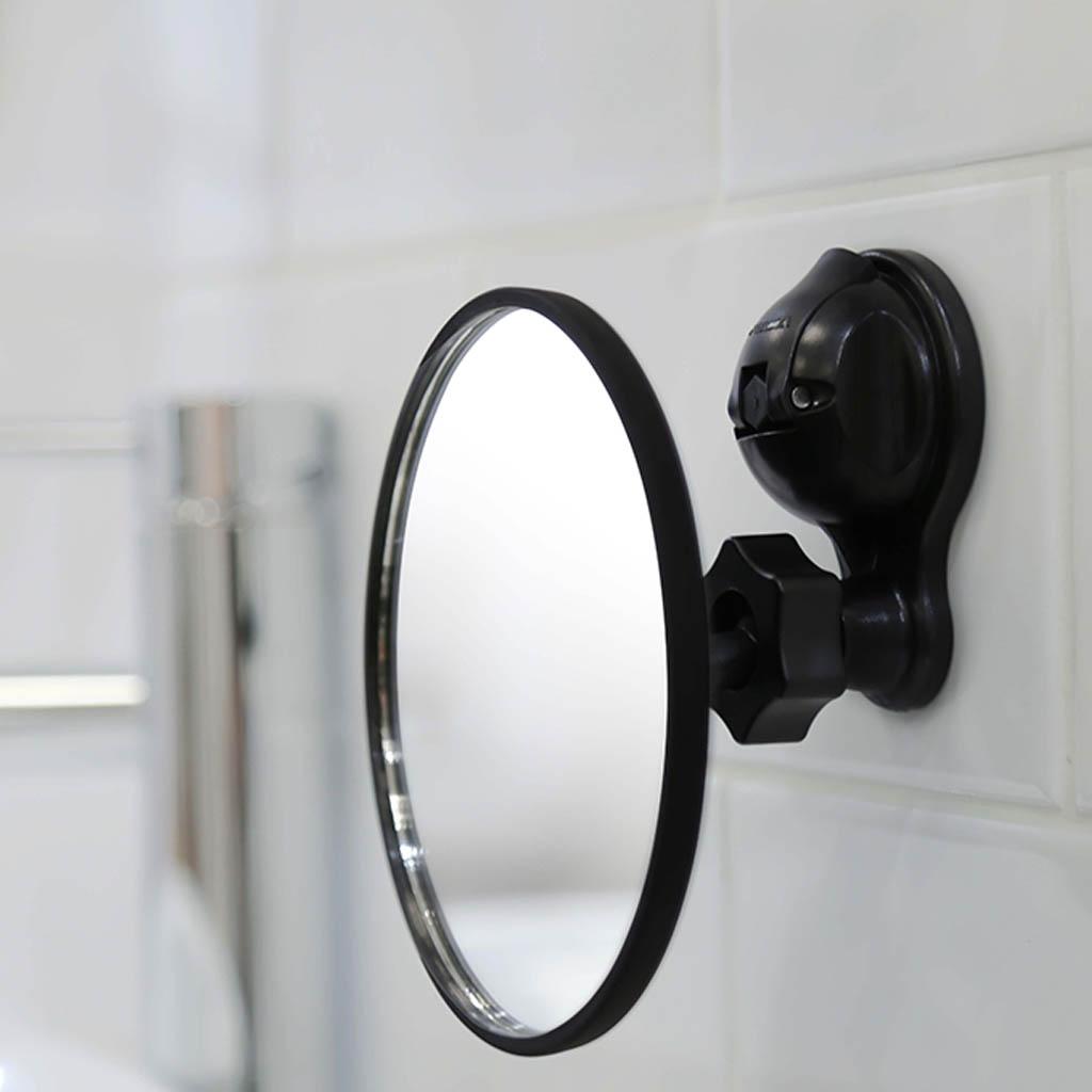 Spiegel Met Zuignap.Spiegel Zwart Met Sterke Zuignap