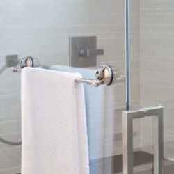 handdoek rek chroom met 2 zuignappen