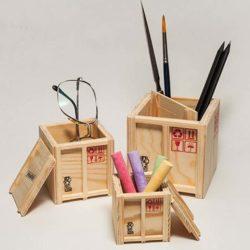 Inbox - set van 3 miniatuur scheepskisten