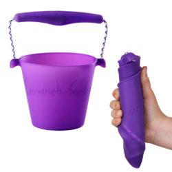 opvouwbare emmer scrunch bucket paars