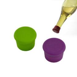 herbruikbare wijnfles afsluitdoppen 2 stuks - groen, paars