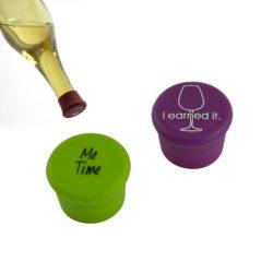 herbruikbare wijnfles afsluitdoppen 2 stuks - Me time, I earned it