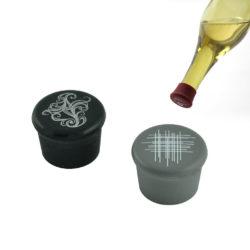 herbruikbare wijnfles afsluitdoppen 2 stuks - grijs, zwart