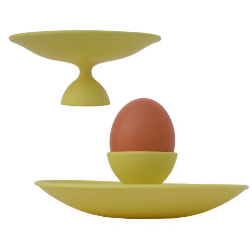 eierdop/ schaaltje Eggy geel
