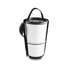 black+blum Lunchpot wit/zwart