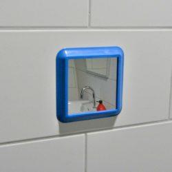 showermirror blauw impressie