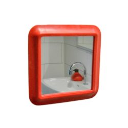 douchespiegel Showermirror rood zuignap