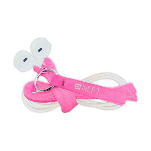 snoertjes beschermen met Cable keeper Go roze
