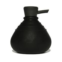 zeepdispenser SoapBelly zwart met zwarte dop