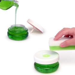 Bosign zeepdispenser transparant / wit deksel