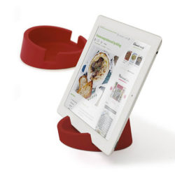 Bosign standaard rood voor tablet of kookboek