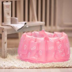 Bosign opblaasbaar voetenbad roze