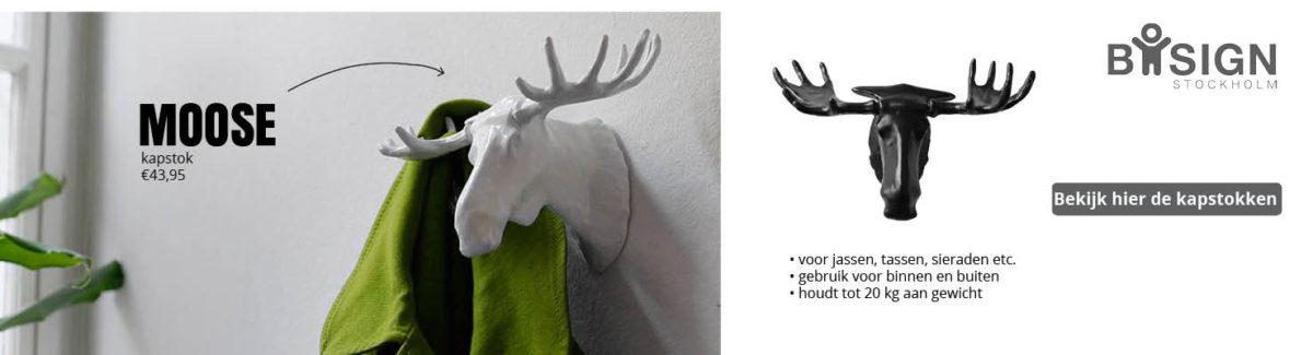 slider bosign moose kapstok