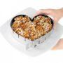 I Genietti verstelbare cake vorm hart roestvrijstaal