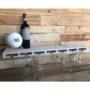 Glass bar plank voor wijnglazen en flessen white wash